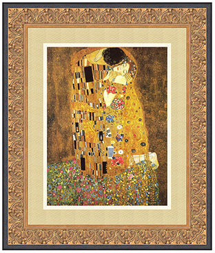 Gustav Amanti Art The Kiss (Le Baiser/Il Baccio), 1907 Framed Art Print by Klimt