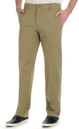 Lee Men's Performance Series Extreme Comfort Khaki Straight-Fit Flat-Front Pants
