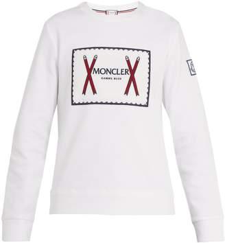 Moncler Embroidered-logo cotton-blend sweatshirt