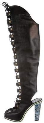 Rodarte Embossed Over-The-Knee Boots