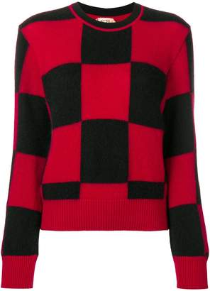 No.21 checked sweater