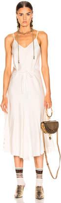 Chloé Satin Crepe Dress in Buttercream   FWRD