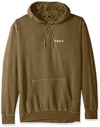 Obey Men's Basic Pullover Hood Fleece Sweatshirt