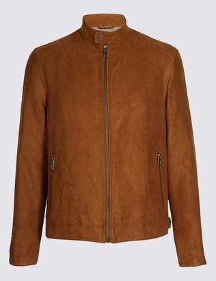 Marks and Spencer Faux Suede Biker Jacket