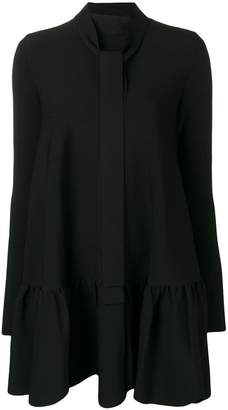 Valentino scalloped hem dress