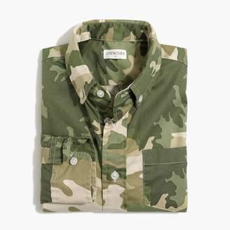 J.Crew Boys' long-sleeve flex washed shirt in camo