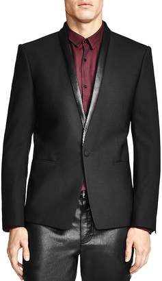 The Kooples Classic Fit Sport Coat with Leather Detailing $695 thestylecure.com