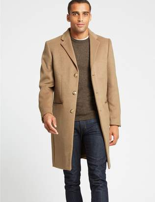 Marks and Spencer Wool Blend Revere Coat