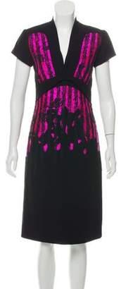 Bottega Veneta Embroidered Midi Dress