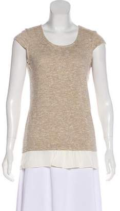 DREW Metallic Knit Top