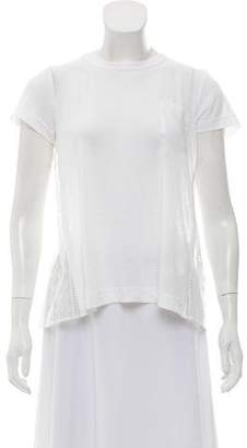 Sacai Lace Embroidered Short Sleeve Top w/ Tags