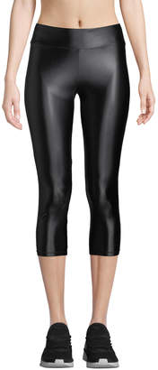 Cushnie et Ochs High-Waist Cropped Metallic Leggings