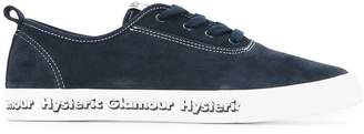 Hysteric Glamour side logo lace-up sneakers