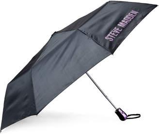 Steve Madden Black Auto Open Umbrella