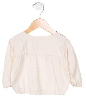 Caramel Baby & Child Girls' Woven Long Sleeve Blouse cream Girls' Woven Long Sleeve Blouse