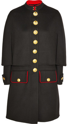 Burberry - Cape-back Wool And Cashmere-blend Coat - Black $3,995 thestylecure.com