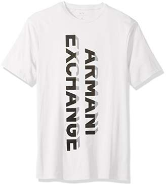 Armani Exchange A|X Men's Vertical Graphic Jersey Tee