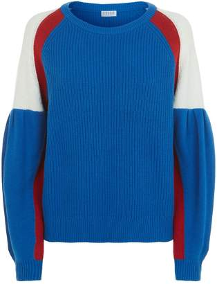Claudie Pierlot Knitted Puff Sleeve Sweater