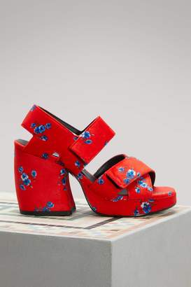 Kenzo Velvet sandals with heels