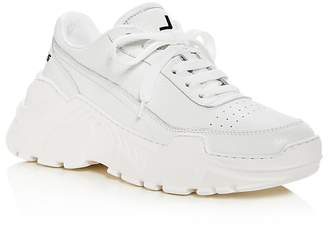Joshua Sanders Women's Zenith Leather Lace Up Platform Sneakers
