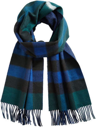 Burberry cashmere reversible check scarf