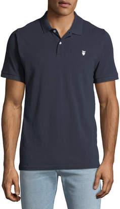 Knowledge Cotton Apparel Men's Pique Owl Polo Shirt