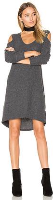 Nation LTD Gwen Cold Shoulder Dress in Charcoal $127 thestylecure.com