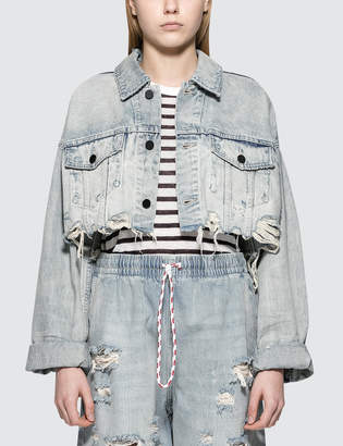 Alexander Wang Blaze Crop Denim Jacket