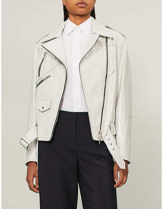 Givenchy Crinkled leather jacket