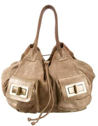 Philosophy di Alberta Ferretti Distressed Leather Tote