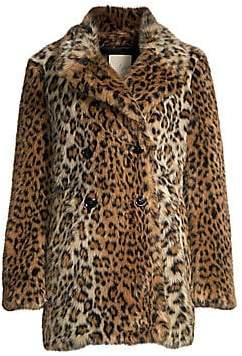 Joie (ジョア) - Joie Joie Women's Tiaret Leopard Faux Fur Coat