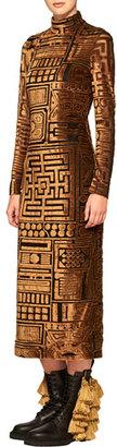 Burberry Velvet Bodycon Long-Sleeve Dress $2,395 thestylecure.com
