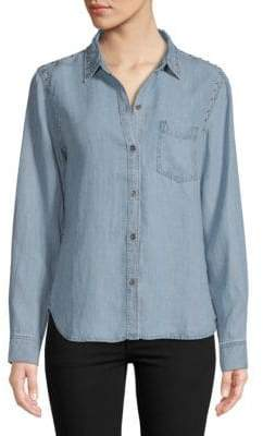 Rails Ingrid Studded Button-Down Shirt
