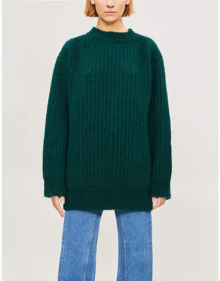 Calvin Klein Ribbed-knit wool and mohair-blend jumper