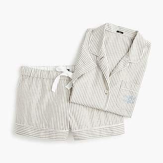 "J.Crew Pajama set in ""night night"" stripes"