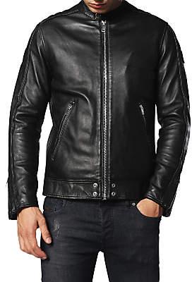 Diesel L-Quad Leather Jacket, Black