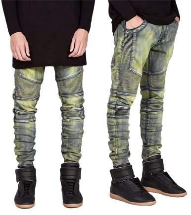YSJX Comfortable Denim Trousers Elastic Jeans Casual Slim Men Jeans Long Pants