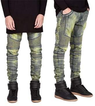 Betruststores Comfortable Denim Trousers Elastic Pants Trendy Designed Straight Jeans Casual Slim Men Jeans Male Long Pants