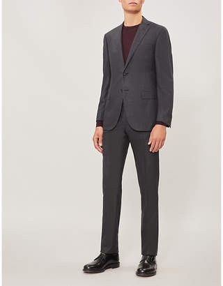 Corneliani Micro-checked academy-fit wool suit