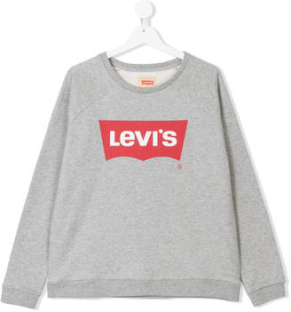 Levi's Kids TEEN logo tab print sweatshirt