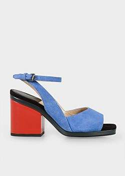Paul Smith Women's Blue Suede 'Ellery' Heeled Sandals