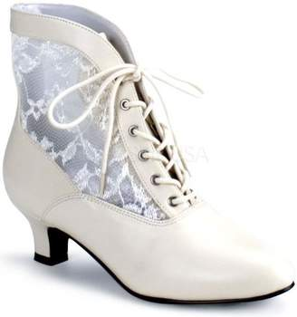 Pleaser USA Shoes Victorian Adult Boots Ivory