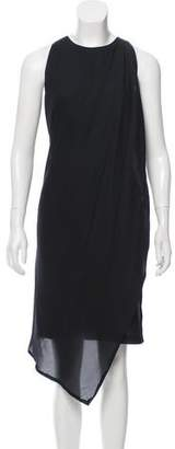 Cédric Charlier Draped Sheath Dress