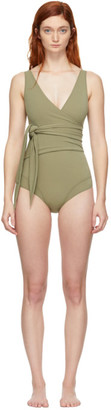 Lisa Marie Fernandez Green Dree Louise One-Piece Swimsuit