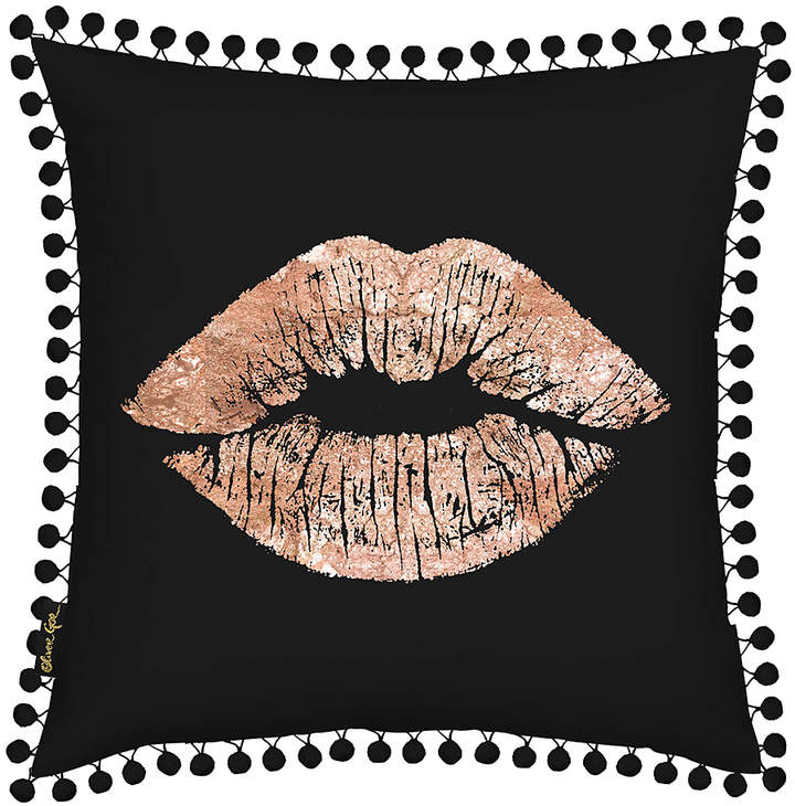 Solid Kiss Copper Velvet Throw Pillow