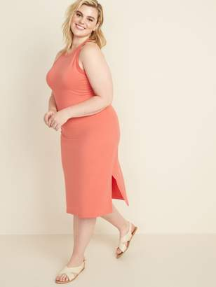 Old Navy Fitted High-Neck Plus-Size Sleeveless Midi Dress