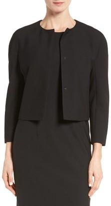Women's Boss Jyleana Collarless Jacket $495 thestylecure.com