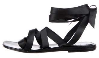 Dries Van Noten Satin Crossover Sandals