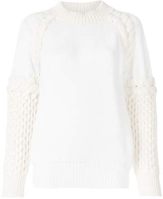 Sacai textured-knit sweater
