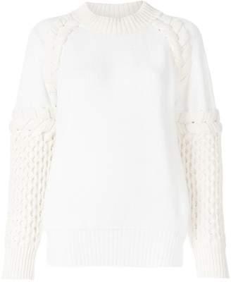 Sacai textured-knit sweater